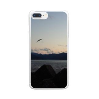 夕焼け Clear smartphone cases