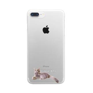 雑種Hybrid CAT Clear smartphone cases