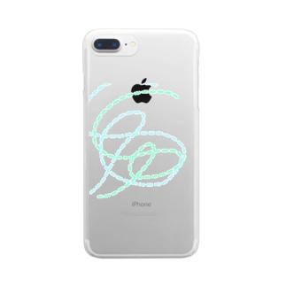 点線 Clear smartphone cases