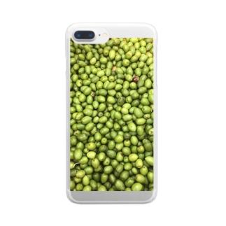 オリーブたくさん Clear smartphone cases