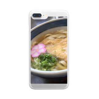 きつねうどん Clear smartphone cases