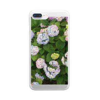 あじさい Clear smartphone cases