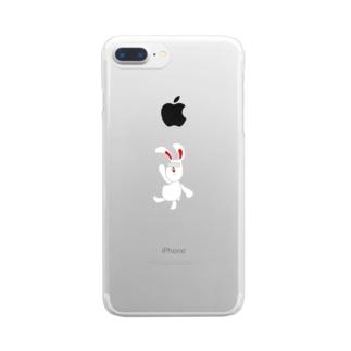 いけないウサギ Clear smartphone cases