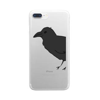 からす Clear smartphone cases