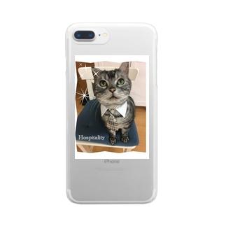 バロンのおもてなし Clear smartphone cases