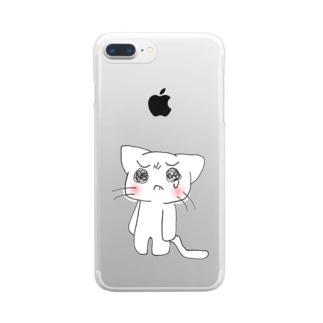 泣き虫にゃんこ Clear smartphone cases