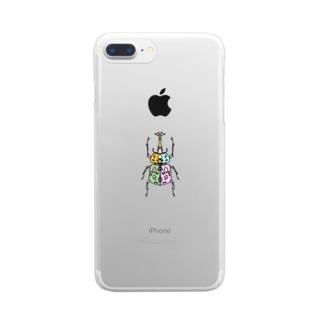 Full of vitality (フル オブ バイタリティ)のbeetle(カブトムシ) Full of vitality (フル オブ バイタリティ) Clear smartphone cases