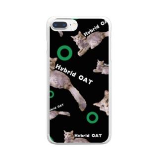 ハイブリットキャット‼️雑種‼️スマホケース Clear smartphone cases