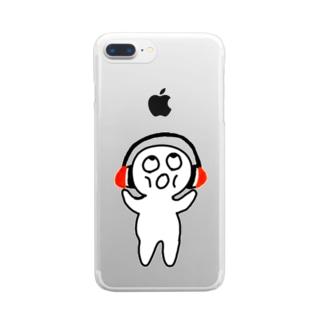 おみみくん Clear smartphone cases