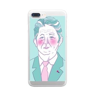 安倍晋三 Clear smartphone cases