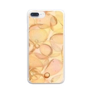しゃぼん玉 Clear smartphone cases