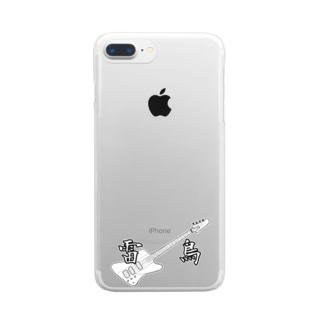 エレキベース サンダーバード雷鳥Tシャツ Clear smartphone cases