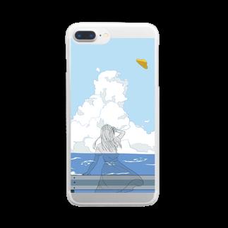 ユエの夏空 Clear smartphone cases