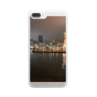 港の夜景 Clear smartphone cases