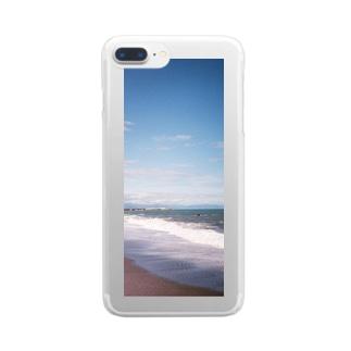 753.1のあの波 Clear smartphone cases
