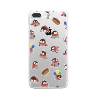 焼きペン クリア Clear smartphone cases
