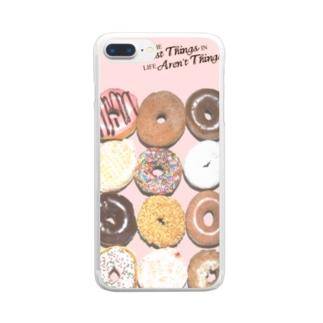 ドーナッツ Clear smartphone cases