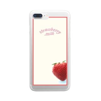 いちごみるく Clear smartphone cases