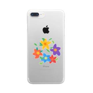花輪 Clear smartphone cases