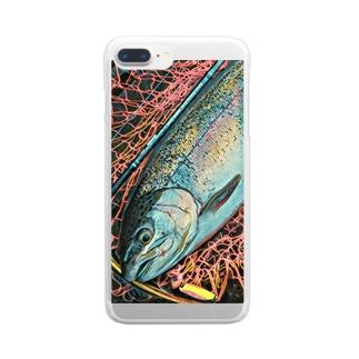 レインボートラウト Clear smartphone cases