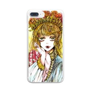 ヘリオガバルスの薔薇 Clear smartphone cases
