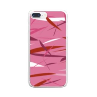 ピンク迷彩 Clear smartphone cases