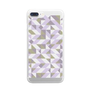 北欧⭐︎ノルウェーの幾何学 Clear smartphone cases