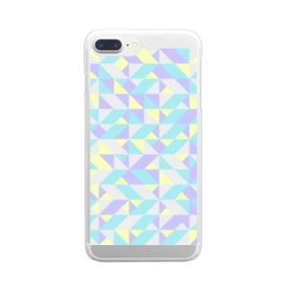 北欧⭐️スウェーデンの幾何学 Clear smartphone cases