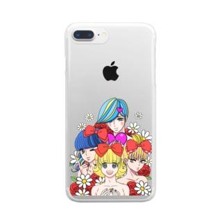 カラフル男子くん Clear smartphone cases