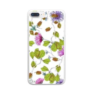 小さな秋見つけた W Clear smartphone cases