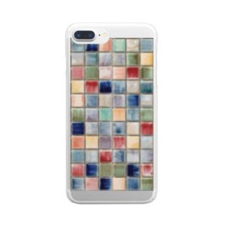 モザイクタイル♪ Clear smartphone cases