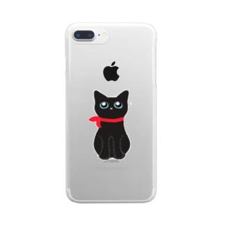 くろねこのむーちゃん Clear smartphone cases