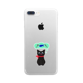 おなかすいた★むーちゃん Clear smartphone cases