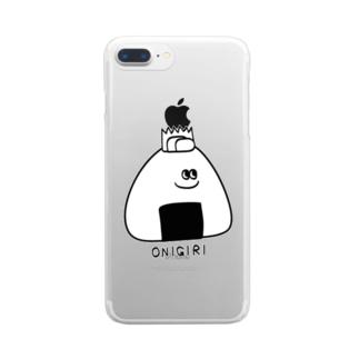 おにぎりくん Clear smartphone cases