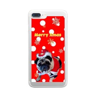 ゴンちゃんサンタ Clear smartphone cases