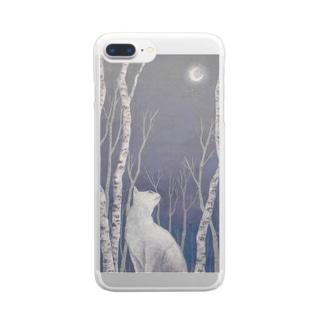 木立の中で Clear smartphone cases