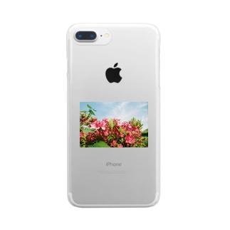 花と空と Clear smartphone cases