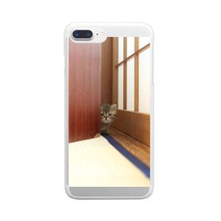 mkoijnのねこ Clear smartphone cases