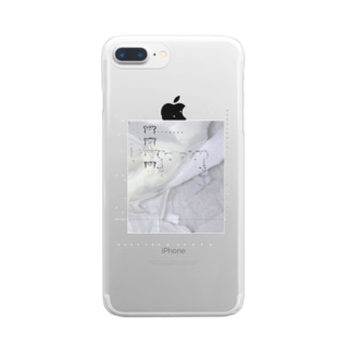 bear -pattern Clear smartphone cases