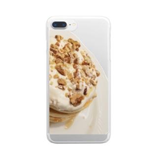 ぱぱぱんけーき Clear smartphone cases