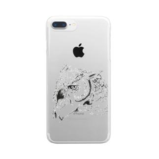 ミミズクさん Clear smartphone cases