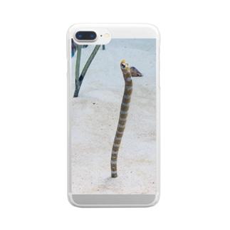 チンアナゴ Clear smartphone cases