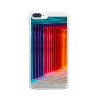 カラフルなゲート Clear smartphone cases