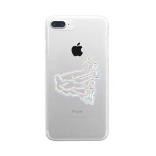 架空のプロレスタッグ技「デスサイスハリケーン」」 Clear smartphone cases