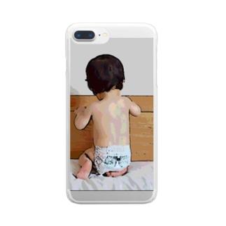 撫でたい背中 Clear smartphone cases