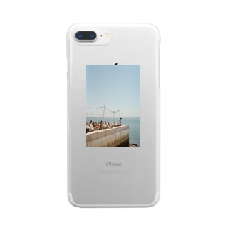 Lisbon* Terrace by the sea Clear smartphone cases