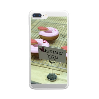 pink donuts❤︎ Clear smartphone cases
