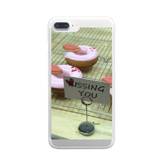 pnkpnkknynのpink donuts❤︎ Clear smartphone cases