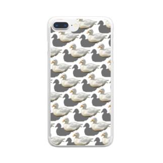 アヒル Clear smartphone cases