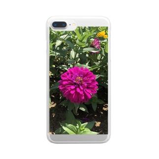 フラワーふらわー Clear smartphone cases